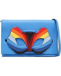 Elena Ghisellini - Embellished Leather Clutch - Lyst