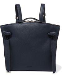 Jil Sander - Leather Backpack Midnight Blue - Lyst