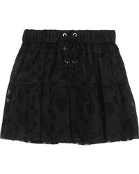 IRO - Carmel Lace-up Chiffon And Tulle Mini Skirt - Lyst