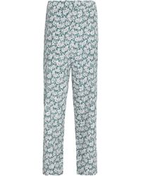 Marni - Floral-print Crepe Tapered Trousers - Lyst