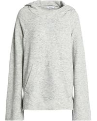Splendid - Woman Marled French Cotton-blend Terry Hoodie Light Grey - Lyst