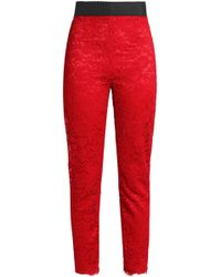 Dolce & Gabbana - Corded Lace Skinny Pants - Lyst