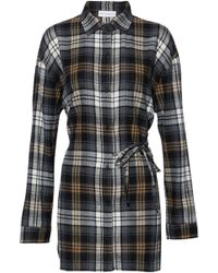 Robert Rodriguez - Checked Cotton-blend Flannel Shirt - Lyst