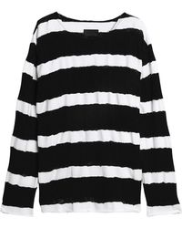 RTA - Distressed Striped Cotton Sweater - Lyst