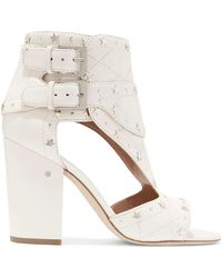 Laurence Dacade - Cutout Studded Leather Sandals - Lyst