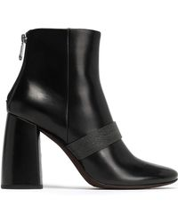 Brunello Cucinelli - Bead-embellished Leather Ankle Boots - Lyst