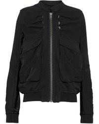 Haider Ackermann - Satin-paneled Cotton-jersey Jacket - Lyst