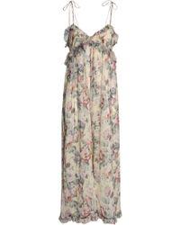 Zimmermann - Cropped Ruffle-trimmed Floral-print Silk-georgette Jumpsuit - Lyst