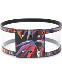 Emilio Pucci - Pvc-paneled Printed Leather Belt - Lyst