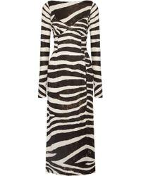 Marc Jacobs - Zebra-print Stretch-jersey Dress - Lyst