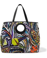 Emilio Pucci - Leather-trimmed Printed Canvas Shoulder Bag - Lyst