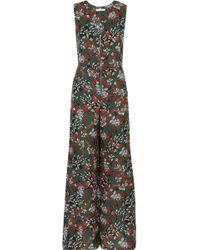 Maje - Floral-print Crepe Jumpsuit - Lyst