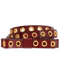 RED Valentino - Patent-leather Belt - Lyst
