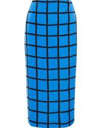 Diane von Furstenberg - Printed Cady Midi Pencil Skirt - Lyst