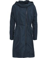 Brunello Cucinelli - Woman Bead-embellished Shell Hooded Parka Navy - Lyst