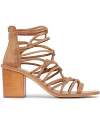 Rag & Bone - Knotted Suede Sandals - Lyst