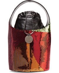Tom Ford - Miranda Mini Sequined Leather Bucket Bag - Lyst