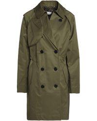 COACH - Cotton-gabardine Trench Coat Army Green - Lyst