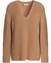 Claudie Pierlot - Ribbed Wool And Cashmere-blend Jumper - Lyst