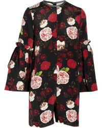 Mother Of Pearl - Curtis Floral-print Silk Playsuit - Lyst