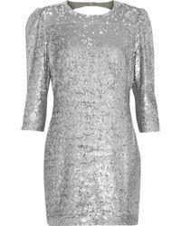 Fleur du Mal - Open-back Sequined Gauze Mini Dress - Lyst