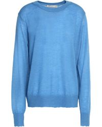 Vince - Marled Cashmere Jumper Light Blue - Lyst