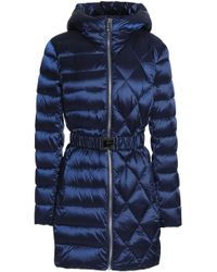 Diane von Furstenberg - Belted Quilted Shell Hooded Coat - Lyst