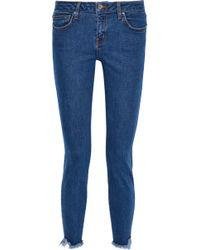 IRO - Jarod Cropped Frayed Mid-rise Skinny Jeans - Lyst