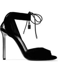 Tom Ford - Embellished Velvet Sandals - Lyst