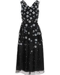 Holly Fulton - Embellished Silk-organza Dress - Lyst