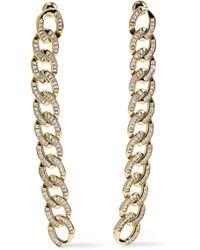 Noir Jewelry - Woman Gold-tone Crystal Earrings Gold - Lyst