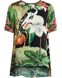Adam Lippes - Printed Silk Top - Lyst