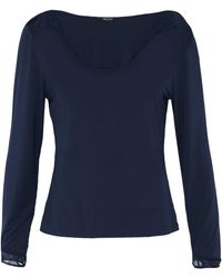 Heidi Klum - Lace-trimmed Stretch-modal Jersey Pajama Top - Lyst