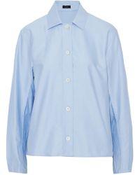 JOSEPH - Cotton-poplin Shirt Sky Blue - Lyst