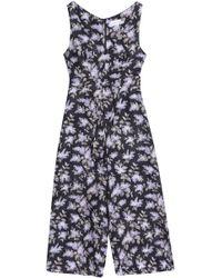 Zimmermann - Belted Floral-print Linen Wide-leg Jumpsuit - Lyst