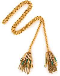 Elizabeth Cole - Gold-tone Crystal And Stone Necklace - Lyst