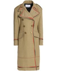 Sonia Rykiel - Double-breasted Embroidered Linen Coat - Lyst