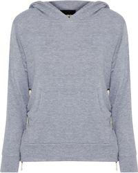 Monrow - Stretch-jersey Hooded Sweatshirt - Lyst