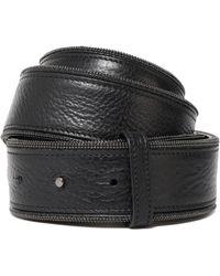 Brunello Cucinelli - Bead-embellished Pebbled-leather Belt - Lyst