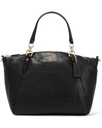 COACH - Tyler Textured-leather Tote - Lyst