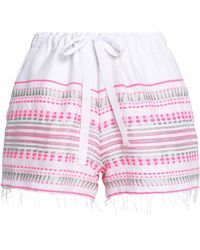 lemlem - Embroidered Cotton-blend Shorts - Lyst