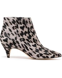 378e537c876c Sam Edelman - Woman Kinzey Leopard-print Calf Hair Ankle Boots Animal Print  - Lyst
