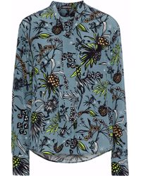 Markus Lupfer - Abbie Printed Silk Crepe De Chine Blouse - Lyst