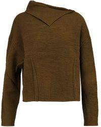 Isabel Marant - Asymmetric Textured-wool Jumper - Lyst
