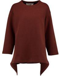 Marni - Asymmetric Stretch Wool-blend Sweatshirt - Lyst