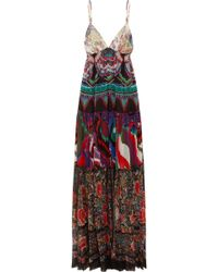 Roberto Cavalli | Printed Silk-georgette Maxi Dress | Lyst