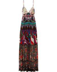 Roberto Cavalli - Printed Silk-georgette Maxi Dress - Lyst