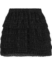 Isabel Marant - Ruffled Metallic Fil Coupé Mini Skirt - Lyst