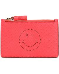Anya Hindmarch - Perforated Python Cardholder - Lyst