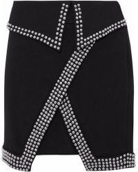 L'Agence - Amelie Studded Cady Mini Skirt - Lyst